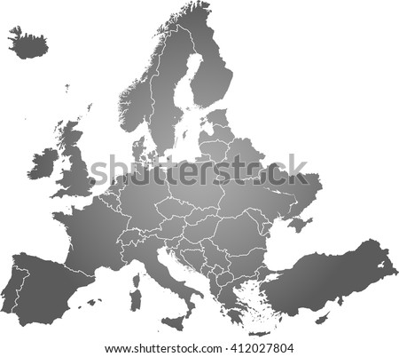 Map of Europe Download Free Vector Art Stock Graphics Images