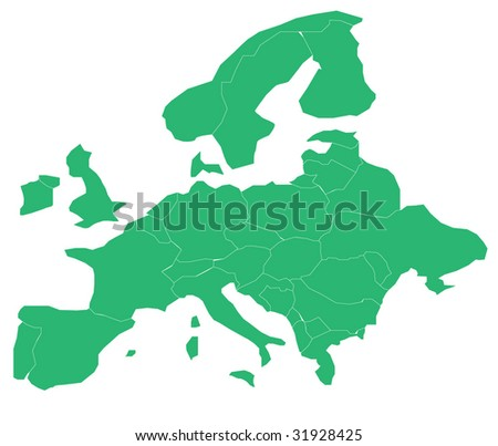 political map of europe 1939. outline map europe 1939