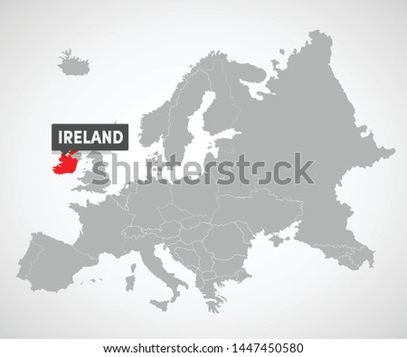 map of european union with the