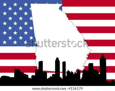 Free Georgia Map Vector Download Free Vector Art Stock Graphics - Georgia on usa map
