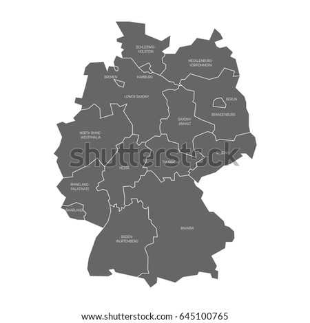 map of germany devided to 13