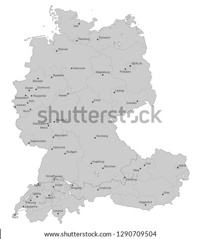 map of germany  switzerland and