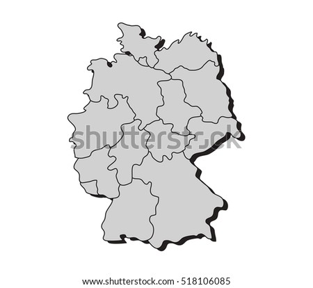 map of germany with regions