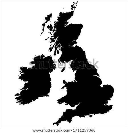 Map of Great Britain. UK map, vector illustration