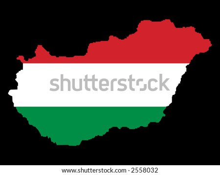 map of hungary. stock vector : map of Hungary