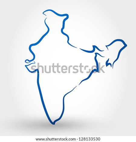 map of india map concept