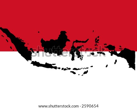 indonesian flag. and Indonesian flag