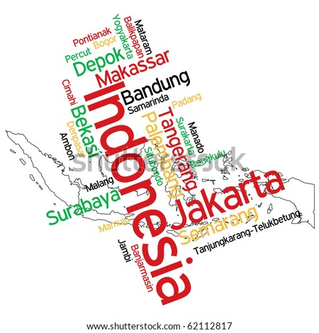 Indonesia City Map Map of Indonesia And Text