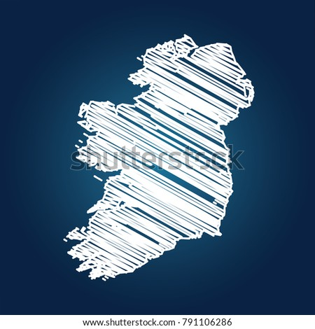 map of ireland  drawing map on
