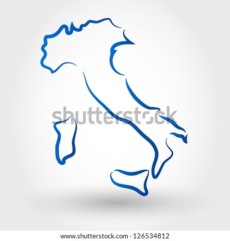 map of italy. map concept