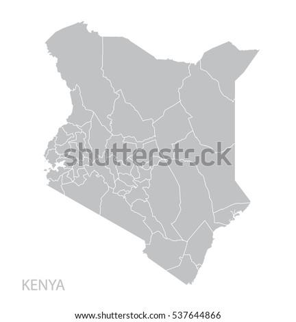 Map of Kenya. Vector.
