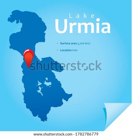 map of lake urmia vector
