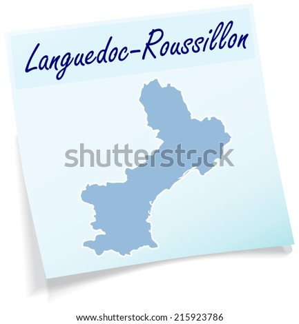 map of languedoc roussillon as