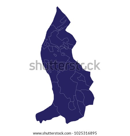 Map of Liechtenstein - Blue Geometric Rumpled Triangular , Polygonal Design For Your . An Illustration of a colourfully filled outline of Liechtenstein, Vector illustration eps 10.