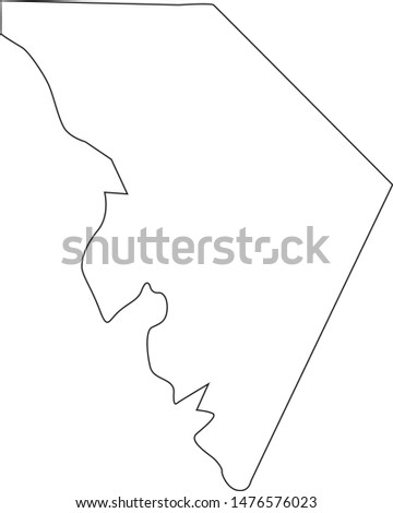 Map of Marlboro County in the state of South Carolina