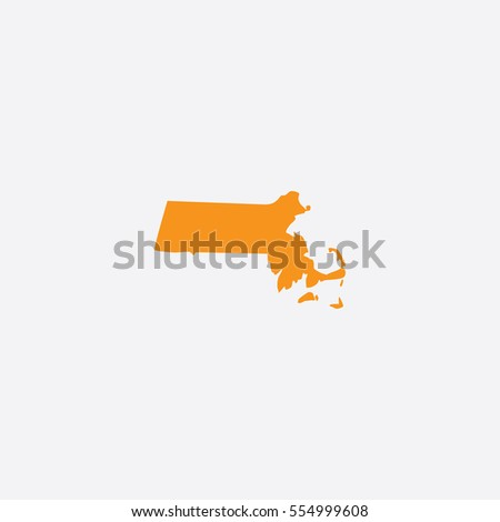Map of Massachusetts Vector Illustration