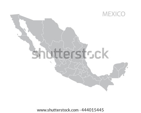 Map of Mexico Foto stock ©