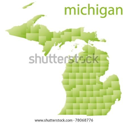map of michigan state, usa