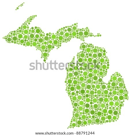 Map of Michigan (USA)