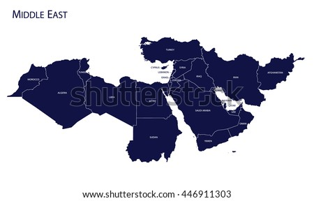 Map of Middle East Stockfoto ©
