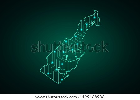 map of monaco  network line
