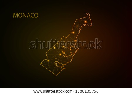 map of monaco wire frame 3d