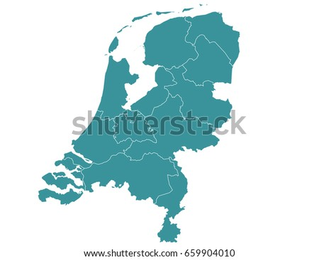 Netherlands flat map download free vector art stock graphics map of netherlands isolated on white background gumiabroncs Image collections