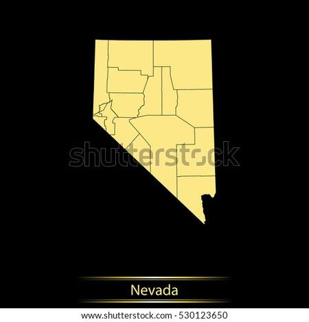 Map Of Nevada Stock Vector Illustration 530123650