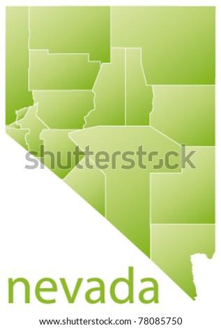 map of nevada state, usa