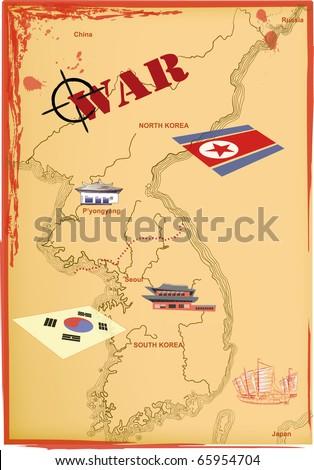map of north korea at night. Korea north korea at night