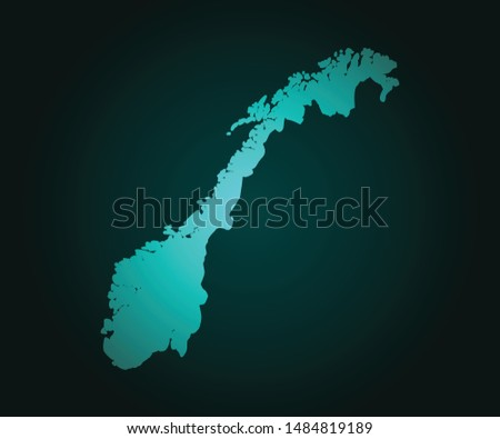 map of norway green vector