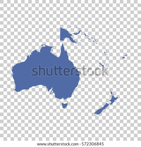 Map of Oceania on isolated background. Flat vector