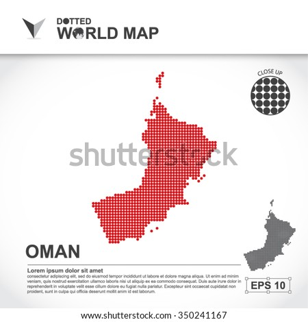 Map Of Oman Dotted Vector