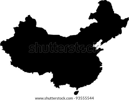 Map of People's Republic of China in vector art