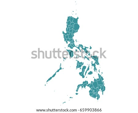 map of philippines isolated on white background