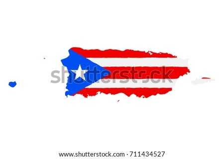 map of puerto rico with flag