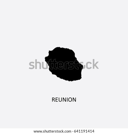 map of reunion   france vector