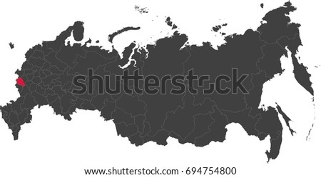 map of russia split into