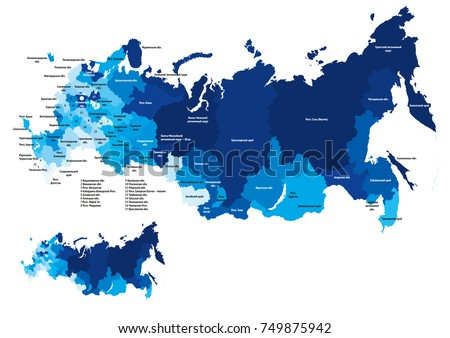 map of russia with regions