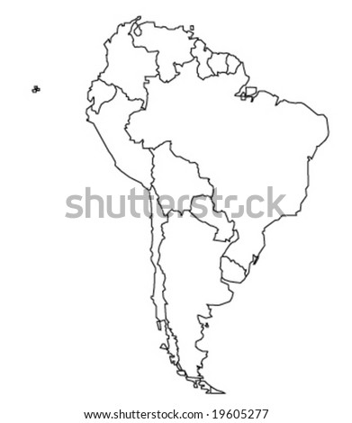 map of south america - vector illustration