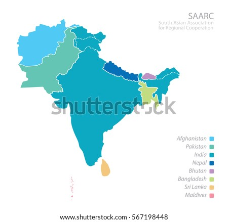 Free bangladesh map vector download free vector art stock map of south asian association for regional cooperation saarc map with countries list gumiabroncs Image collections