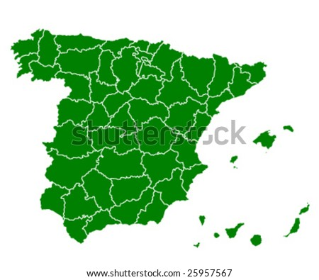 map of spain green ecology