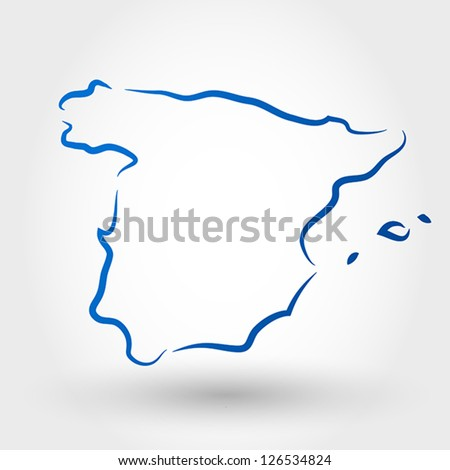 map of spain. map concept
