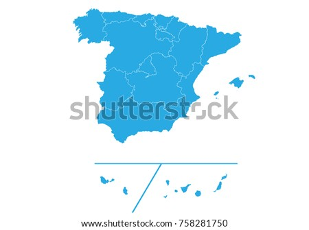 map of spain provinces high