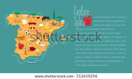 map of spain template vector