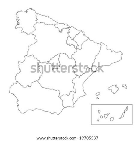 map of spain vector illustration