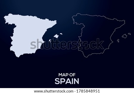 map of spain vector silhouette