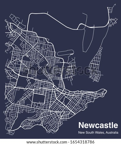 map of streets of newcastle