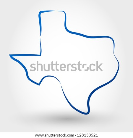 map of texas. map concept