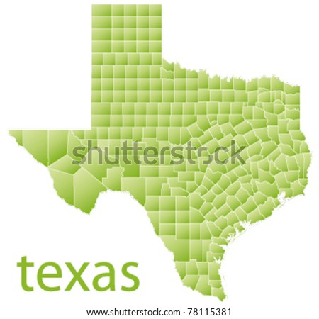 map of texas state, usa